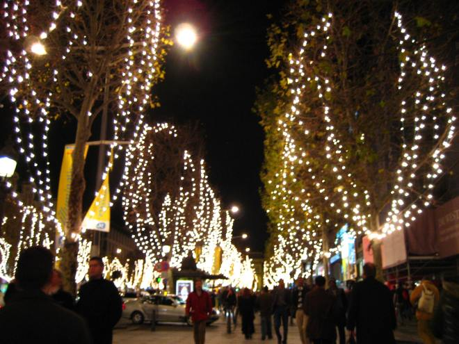 Champs Elysees at Night VI